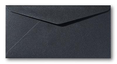 Envelop 9 x 22 cm Metallic Black