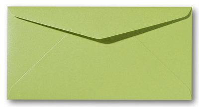 Envelop 9 x 22 cm Metallic Green