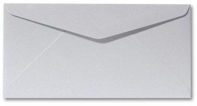 Envelop 9 x 22 cm Metallic platinum
