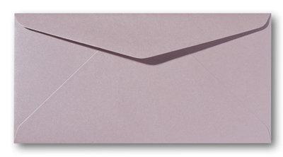 Envelop 9 x 22 cm Metallic Rose