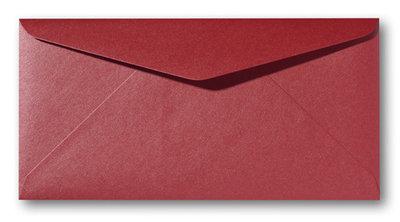 Envelop 9 x 22 cm Metallic Rosso