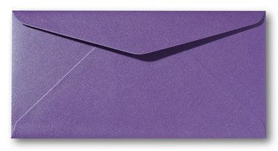 Envelop 9 x 22 cm Metallic Violet