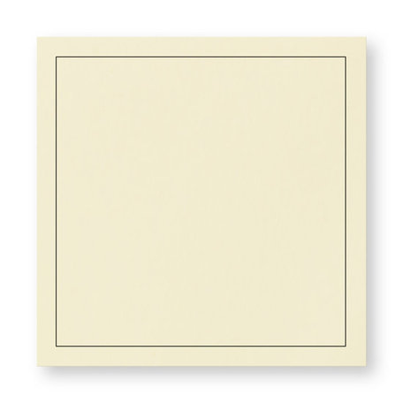 Rouw envelop 14 x 14 cm Zachtgeel