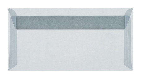 Envelop 11 x 22 cm  transparant lichtblauw