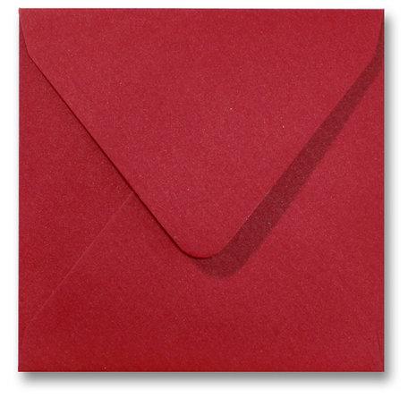Envelop 14 x 14 cm Metallic Rood