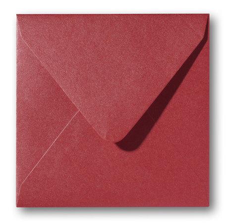 Envelop 14 x 14 cm Metallic Rose