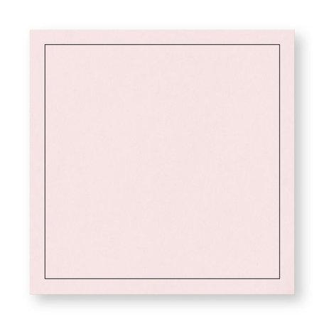 Rouw envelop 16 x 16 cm Lichtroze