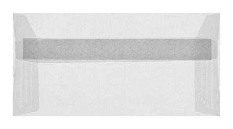 Envelop 11 x 22 cm transparant Wit