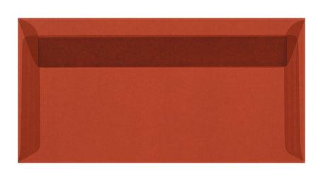 Envelop 11 x 22 cm transparant Rood