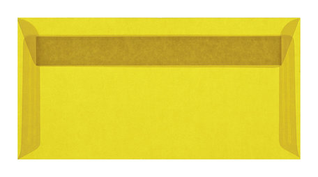 Envelop 11 x 22 cm transparant Geel