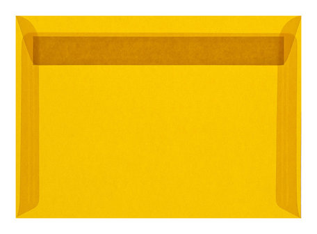 Envelop 16,2 x 22,9 cm transparant Geel