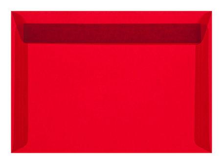 Envelop 16,2 x 22,9 cm transparant Rood