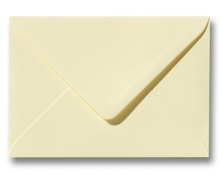 Envelop 12,5 x 17,6 cm Zachtgeel