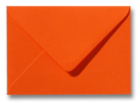 Envelop 12,5 x 17,6 cm Donkeroranje