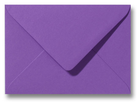 Envelop 12,5 x 17,6 cm Paars
