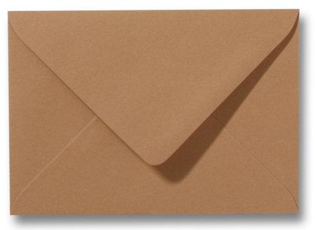 Envelop 12,5 x 17,6 cm Bruin