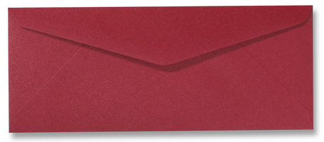 Envelop 11 x 22 cm Metallic Rood