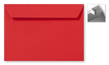Envelop 15.6 x 22 cm Striplock Koraalrood
