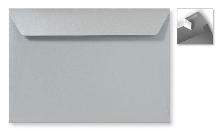 Envelop 15.6 x 22 cm Striplock Metallic Zilver pearl