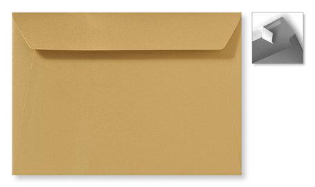 Envelop 15.6 x 22 cm Striplock Metallic Goud Goldrush