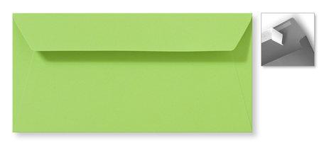 Envelop 11 x 22 cm Striplock Appelgroen