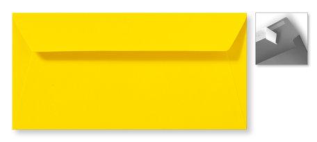 Envelop 11 x 22 cm Striplock Boterbloemgeel