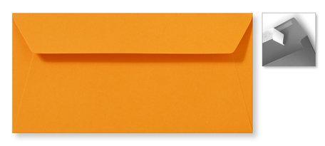 Envelop 11 x 22 cm Striplock Feloranje