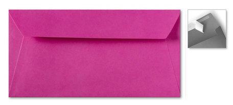 Envelop 11 x 22 cm Striplock Knalroze