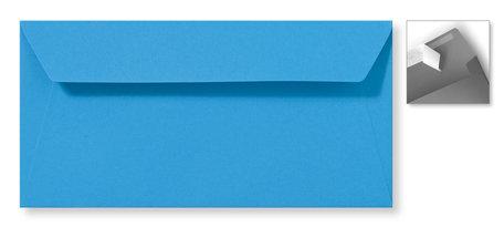 Envelop 11 x 22 cm Striplock Koningsblauw