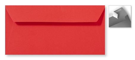 Envelop 11 x 22 cm Striplock Koraalrood