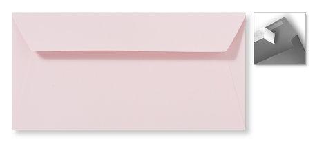 Envelop 11 x 22 cm Striplock Lichtroze