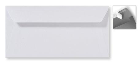 Envelop 11 x 22 cm Striplock Metallic Extra white