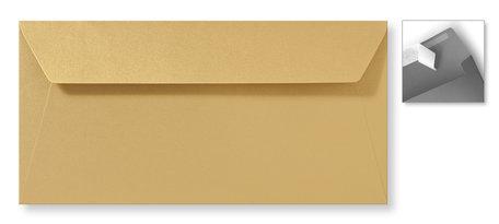 Envelop 11 x 22 cm Striplock Metallic Goud Goldrush