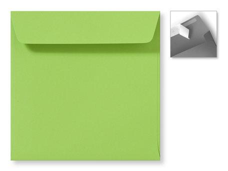 Envelop 16 x 16 cm Striplock Appelgroen