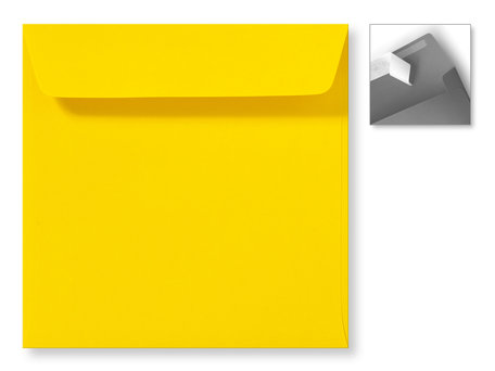 Envelop 16 x 16 cm Striplock Boterbloemgeel