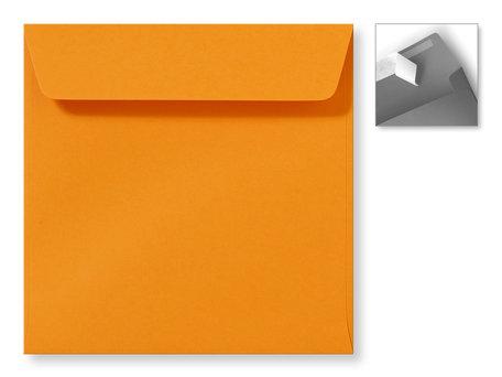 Envelop 16 x 16 cm Striplock Feloranje