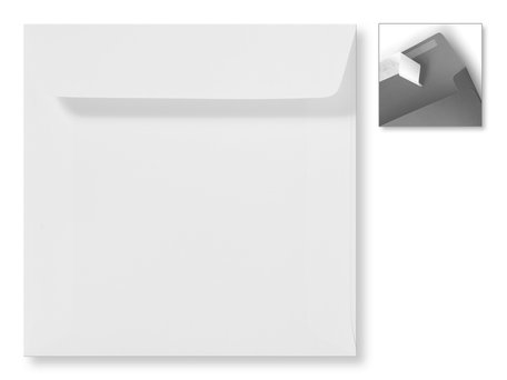 Envelop 16 x 16 cm Striplock Gebroken Wit