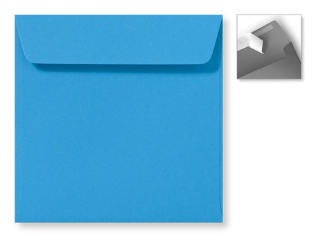 Envelop 16 x 16 cm Striplock Koningsblauw
