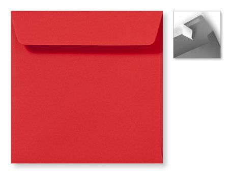 Envelop 16 x 16 cm Striplock Koraalrood
