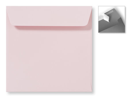 Envelop 16 x 16 cm Striplock Lichtroze