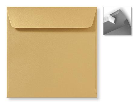 Envelop 16 x 16 cm Striplock Metallic Goud Goldrush