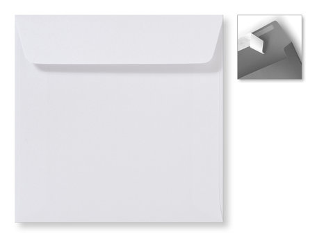 Envelop 16 x 16 cm Striplock Metallic Extra white