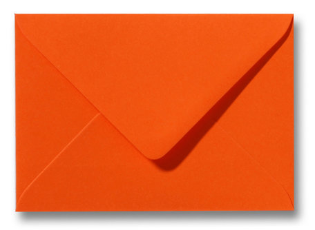 Envelop 11 x 15,6 cm Donkeroranje
