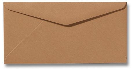Envelop 11 x 22 cm Bruin