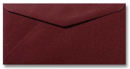 Envelop 11 x 22 cm Donkerrood
