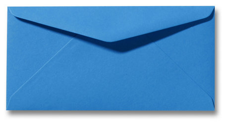 Envelop 11 x 22 cm Koningsblauw