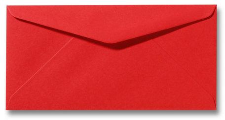 Envelop 11 x 22 cm Koraalrood