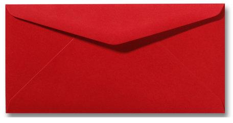 Envelop 11 x 22 cm Pioenrood