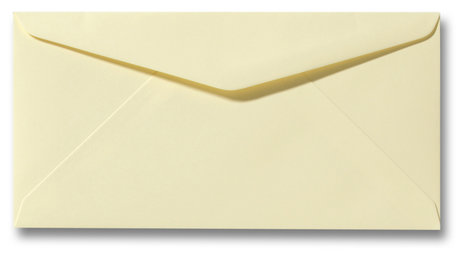 Envelop 11 x 22 cm Zachtgeel