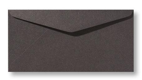 Envelop 11 x 22 cm Metallic Dark